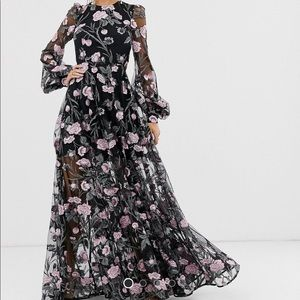 ASOS EDITION floral open back maxi dress